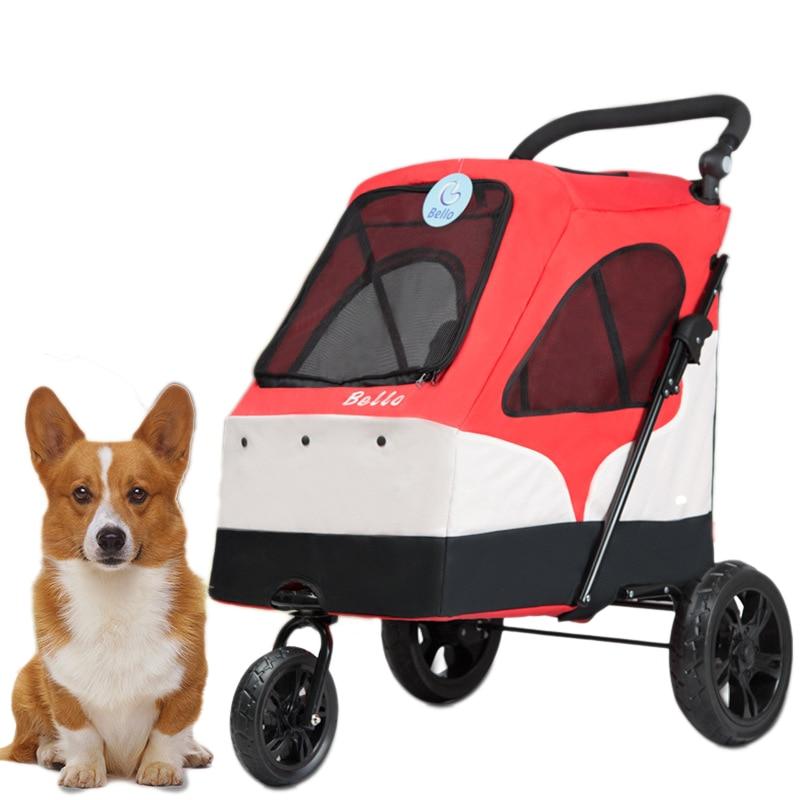 Aliexpress Com Buy Portable Dog Cat Pet Puppy Drinker: Brand 55kg Folding Dog/Cat Stroller Ultra Light Portable