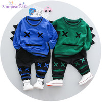 2018 Spring New Baby Girl Clothes Newborn Boys Long Sleeve Infant Clothing Sets Cotton Baby Boy Clothing Set 2pcs tshirts+Pants