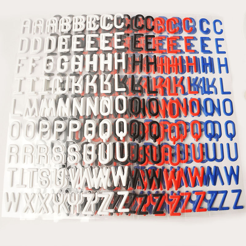 8 sheets mixed color puffy letters cardstock stickers alphabet sticker for scrapbooking chipboard phone letter