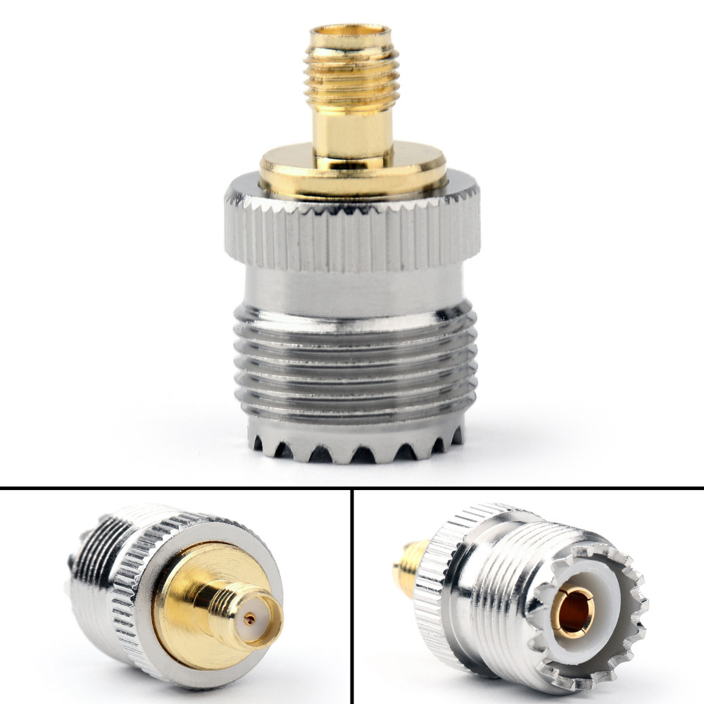 Areyourshop UHF Connector Adapter SO239 UHF Female Jack To SMA Female Connector 10Pcs 50ohm PTFE Straght High Quality for Wires areyourshop female to female connector stereo adapter 1 8 inches 3 5mm jack plug audio connector 50 pcs high quality adapter