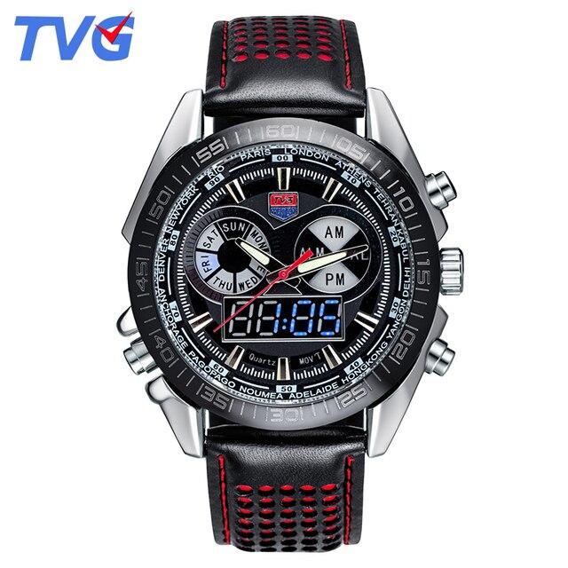 e5f32c779da New Vogue TVG Originais Natação Digital LEVOU Ponteiro do Relógio Dos Homens  Relógios Relogio masculino Pulseira