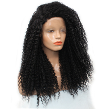 DLME 250% Density Side Part Long Kinky Curly Lace Front Wig Heat Resistant Hair Synthetic Wigs For White Black Women