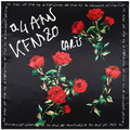 90cm*90cm New Fashion Silk Square Scarf Women Imitated Silk Letter Words and Rose Flower Printed Scarves Shawl Hijab