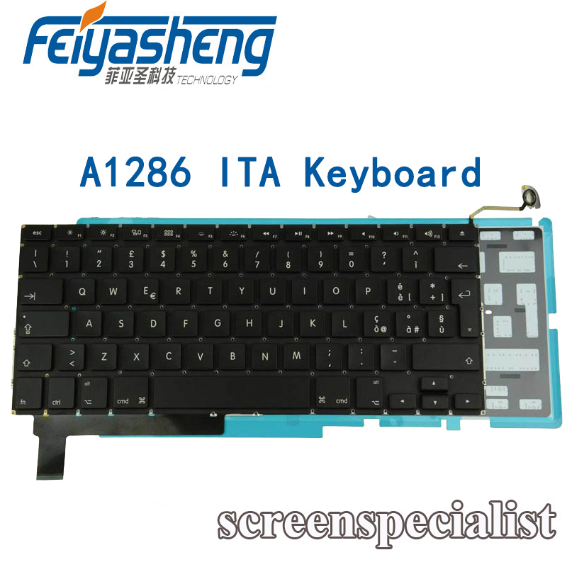 "Backlight New Apple Macbook Pro A1286 15/""  ITALIAN ITALIANO KEYBOARD TASTIERA"