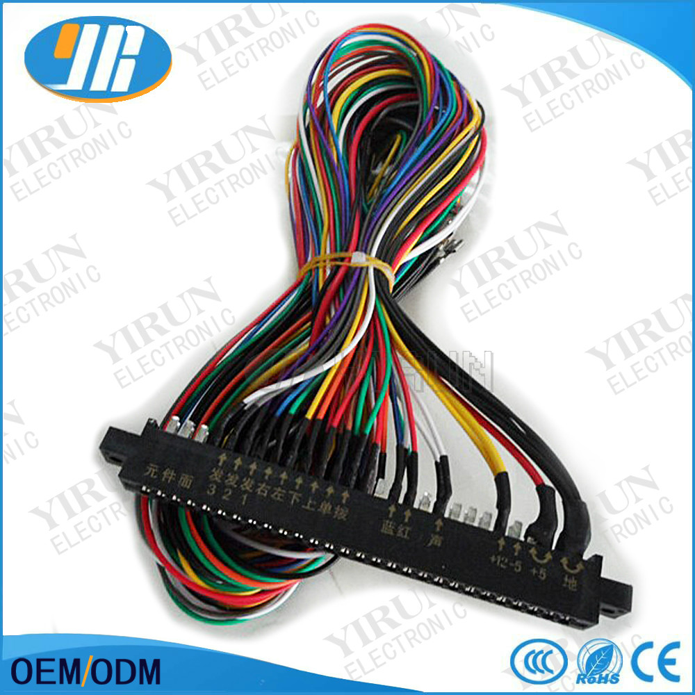 aliexpress com buy jamma harness 28 pin with 4 buttons wires for arcade game machine cabinet accessories 6 action button wires for pcb board from reliable  [ 1000 x 1000 Pixel ]