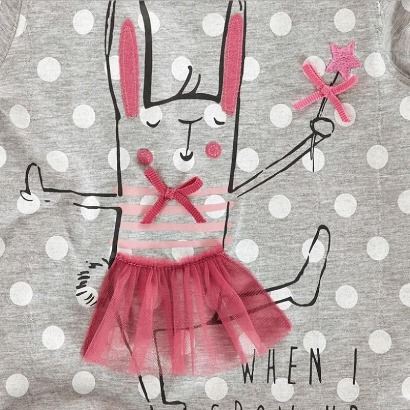 17 New Little Maven 1-6 Years Girls T-shirt Short Sleeve Animal Printing Children Tees Rabbit Cat Printing Kids Tops KF046-1 7
