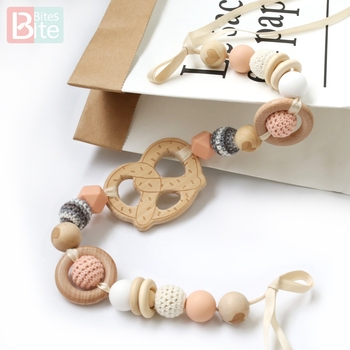 bite bites marble silicone teething beads bpa free silicone nursing necklace for mom necklace baby silicone teether baby teether Bite Bites 1pc Silicone Cart Chain Teething Necklace Donut Wooden Ring Food Grade Silicone Beads BPA Free Baby Teether