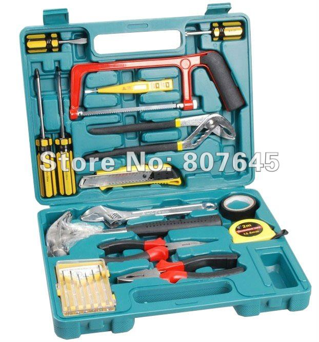 22pcs Hand tools set & home tools (plier, screwdriver, hammer, cutter, ruler, test pen) традиционная китайская живопись