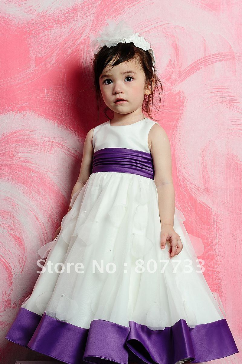 Cheap price hot sale sweet purple and white latest dress designs for cheap price hot sale sweet purple and white latest dress designs for flower girl dress in flower girl dresses from weddings events on aliexpress izmirmasajfo