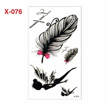 1pcs Feather Style 3d Tattoo Sticker For Women Fake Tattoo Sleeve Waterproof Temporary Tattoo Stickers On The Body Art Adhesives