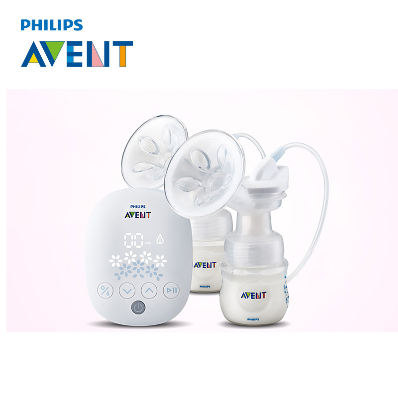 AVENT 1 set Natural Twin Breast Pump Electric Automatic Massage Feeding BPA Free Convenience Baby Sucking Milk Squeeze Pump стоимость