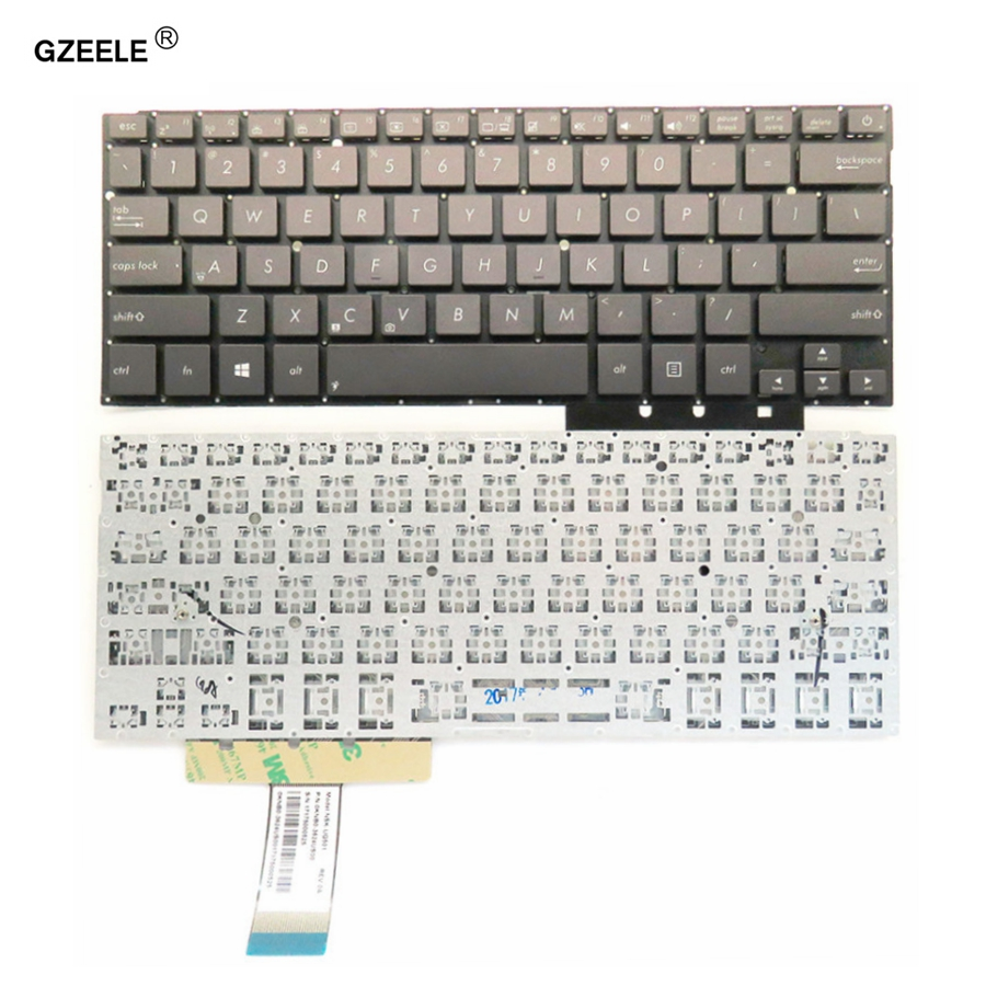 GZEELE Laptop keyboard for ASUS UX31LA UX31 UX31A UX31E US English layout New without frame black laptop keyboard for lg p330 black without frame it italian sn7115 sg 48500 2ia
