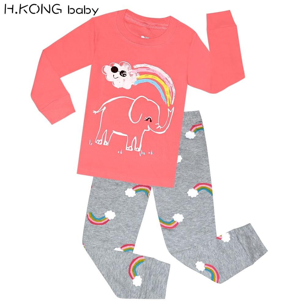 Little Girls Pajamas Toddler Shorts Unicorn Sleepwear for Kids Summer 100/% Cotton Pjs 2 Piece Clothes 2-7 Years