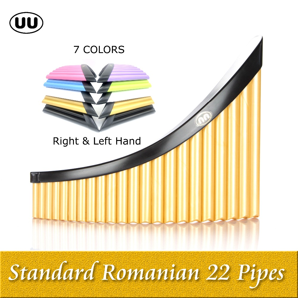 UU Pan Flute Direct sale 22 Pipes Panpipes G Key Flauta ABS Plastic Romanian Panflute Professional Pan Pipe Musical Instrument