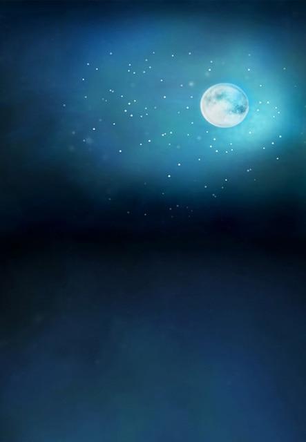 369afd66d 8x12FT الأزرق سماء الليل القمر بريق نجوم مخصص الخلفيات استوديو الصور  الخلفيات الفينيل 10x10 8x15 10