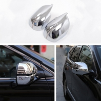 2pcs Car Chrome Side Door Rearview Wing Mirrors Covers Trims Frame Decal For Honda CRV CR V 2012 2016 Car Styling Accessories
