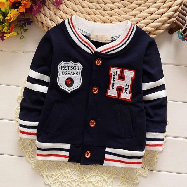 Nuevo Otoño Casual Niños Casaco Letra H de Manga Larga A Rayas Niños Chaquetas de la Rebeca Del Bebé Niños Outwear Abrigos MT812