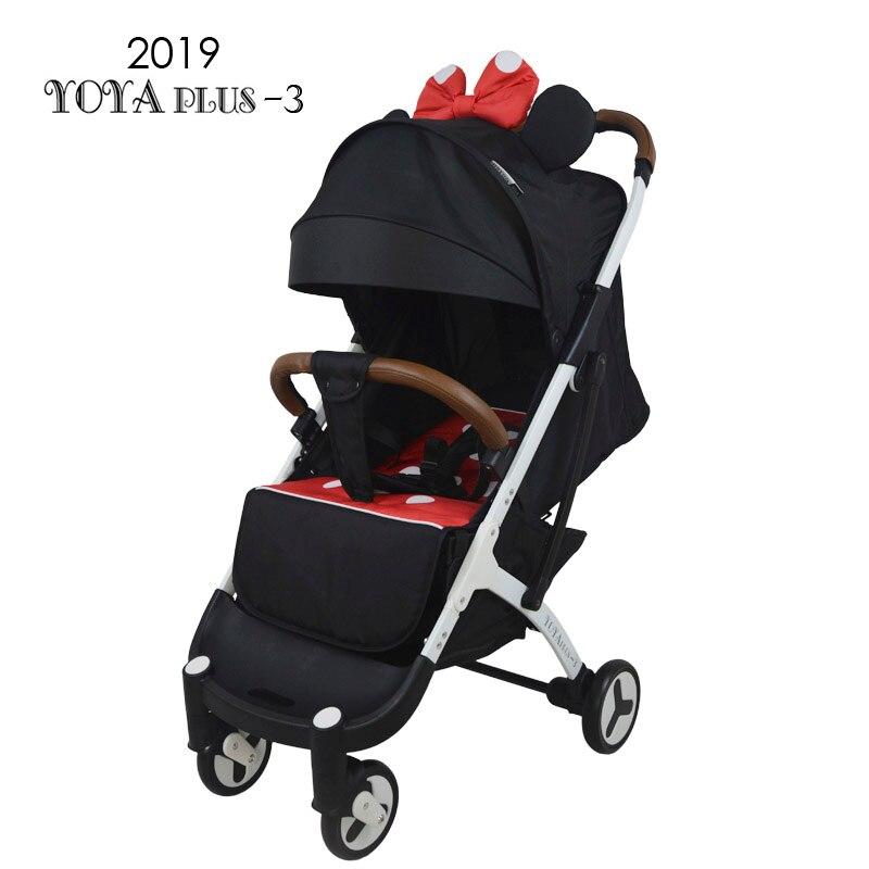 babyyoya yoya plus lightweight baby stroller folding portable baby carriage trolley 2 in 1 white frame