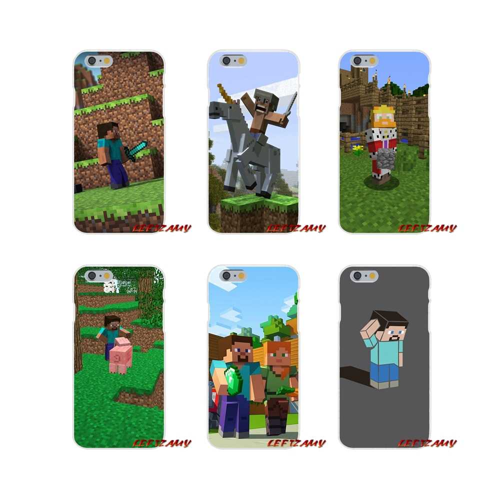 Mojang minecraft Accessories Phone Cases Covers For iPhone X 4 4S 5 5S 5C SE 6 6S 7 8 Plus