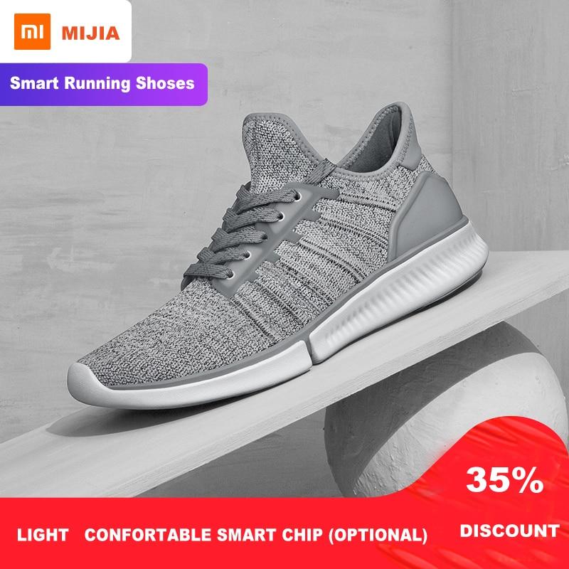 Xiaomi Mijia chaussures de course intelligentes maille respirant hommes baskets de course de nuit chaussures de sport poids léger chaussures de marche style de vie