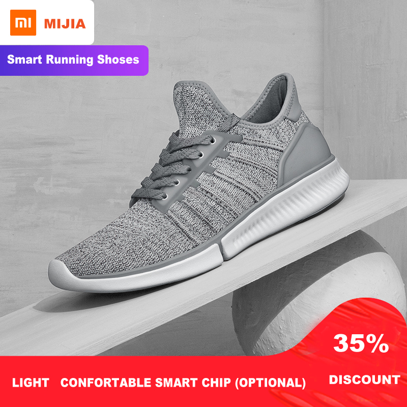 Xiaomi Mijia Smart Running Shoes  Mesh Breathable Men Sneakers Night Running Sports Shoes Light Weight Walking Shoes Lifestyle