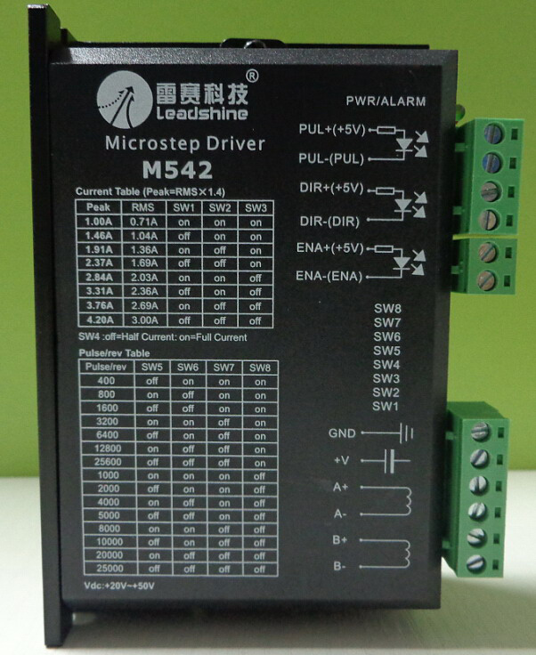 PortiK-1300 (HEADSPARK) Free-shipping-Leadshine-M542-2-Phase-Stepper-Drive-20-50VDC-1-0-4-2A