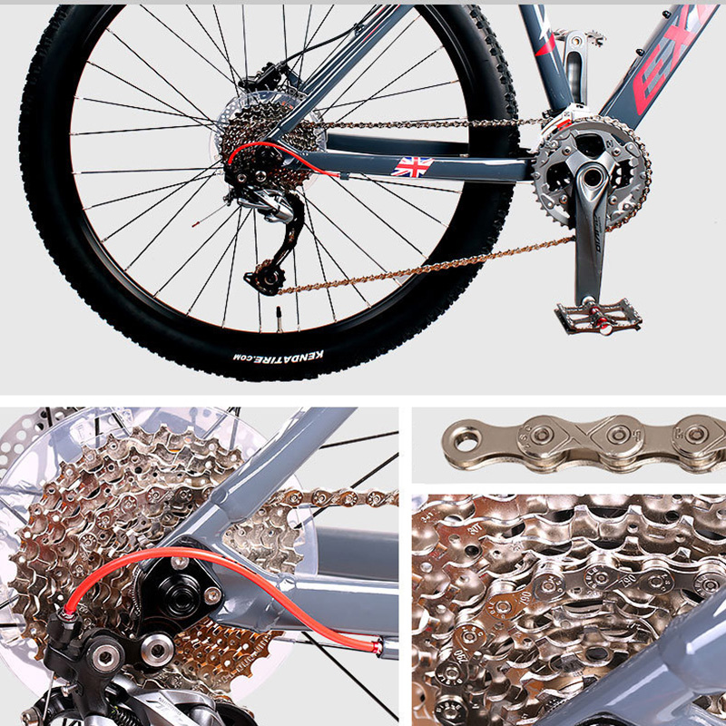 Cycling Bicycle Chain 8S 9S 10S 11S Variable Speed Antirust Silver MTB Mountain Road Bike Chains Bicycle Accessories Parts in Bicycle Chain from Sports Entertainment