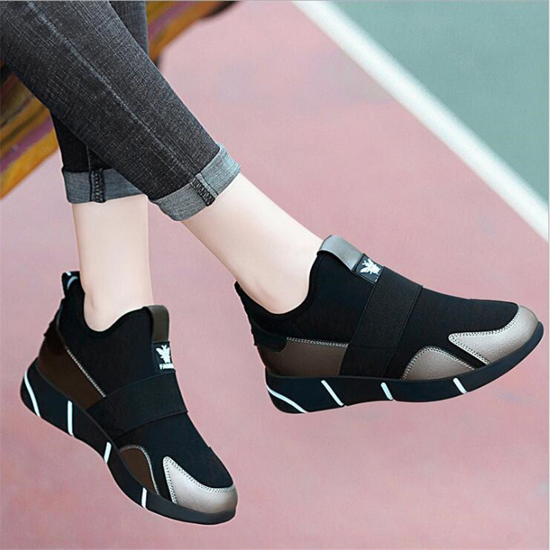 2019 Women Sneakers Vulcanized Shoes Ladies Casual Shoes Breathable Walking Mesh Flats Large Size Couple Shoes Size 35-40