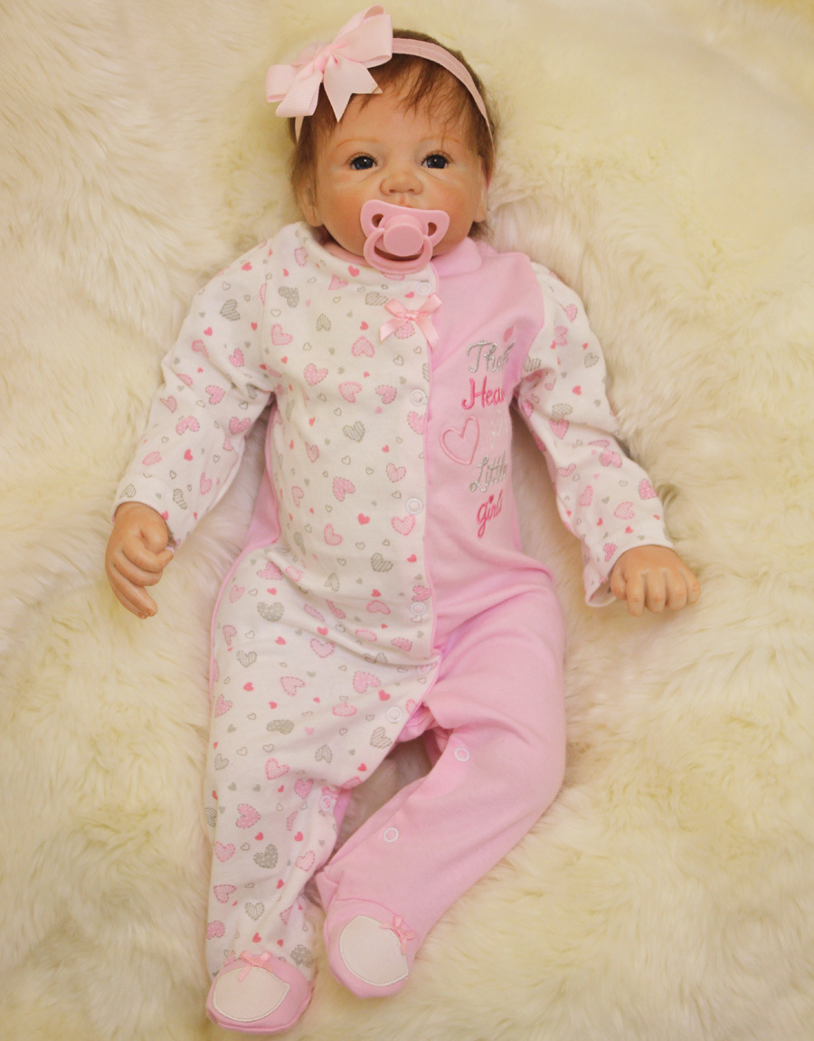 Adorable Princess Girl Doll 50 CM Soft Silicone Reborn Baby Doll Toy For Girls Realistic 22 Inches bebe Reborn boneca Xmas Gifts keiumi 23 babies girl reborn baby doll full body silicone vinyl realistic 57 cm princess new born boneca reborn boneca gifts