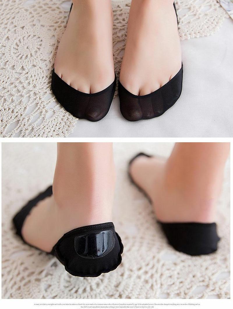 6 шт./3 пары носков-лодок для лета, Нескользящие силиконовые носки для женщин, невидимые носки на высоком каблуке