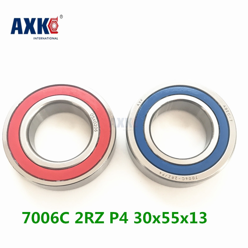 Axk 1pcs 7006 7006c 2rz P4 30x55x13 Sealed Angular Contact Bearings Speed Spindle Bearings Cnc Abec-7 1pcs 71901 71901cd p4 7901 12x24x6 mochu thin walled miniature angular contact bearings speed spindle bearings cnc abec 7