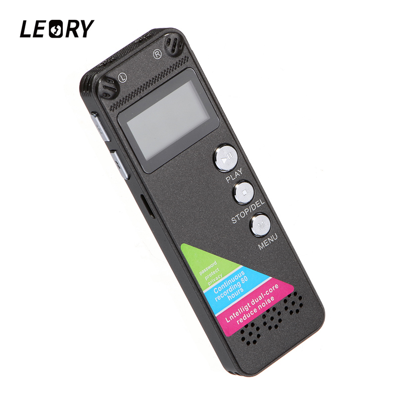 LEORY Mini 8GB Digital Voice Recorder Sound Audio Portable Multi-language Dictaphone With Speaker USB MP3 Player Support TF Card