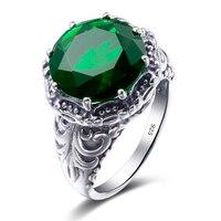 Großen Rabatt 925 Sterling Silber Ring Vintage Stil Luxus Strass Hochzeit Ring Frauen Schmuck Valentinstag Geschenke