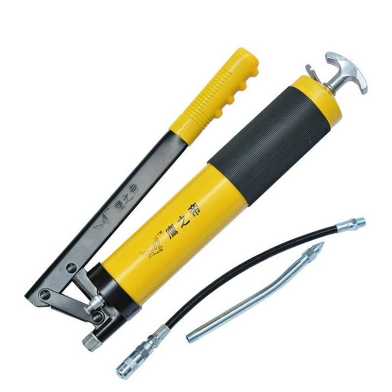 TLXC pistolet à graisse manuel pompe à huile unique tuyau pression 10000 PSI PU Flex pour Auto réparation outil de lubrification pistolets outils