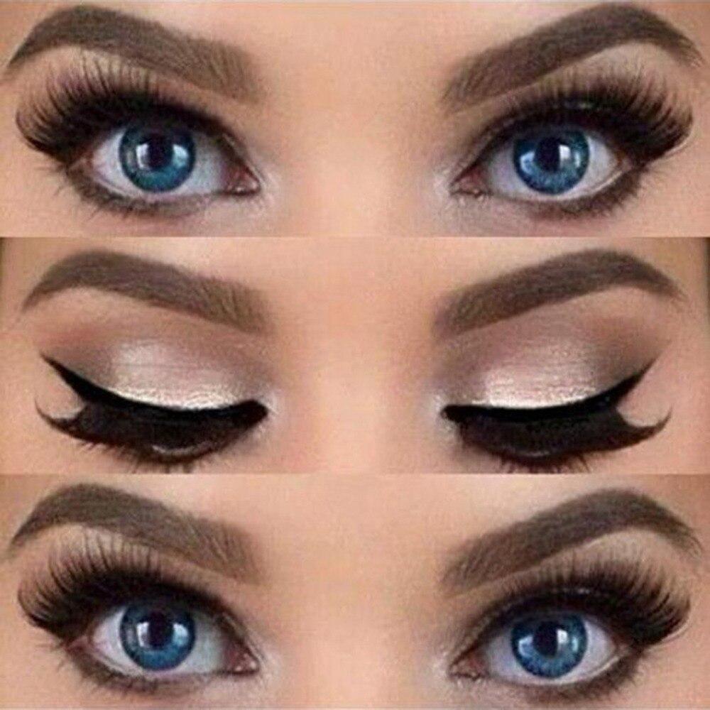 Image 5 - Eyeliner Stencil Top Bottom Smokey & Cat Eye Liner Template Makeup Tool-in Eyeliner from Beauty & Health