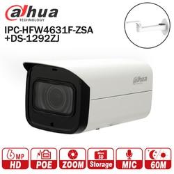 Dahua IPC-HFW4631F-ZSA 6MP Network IP Camera 2.7-13.5mm VF lens Bullet 60m Smart IR Micro SD Card Slot Built-in MIC IP67 IK10
