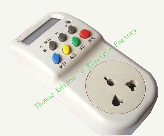 CX-T02W microcomputer Programmable timer switch timer 220V 10A  socket style