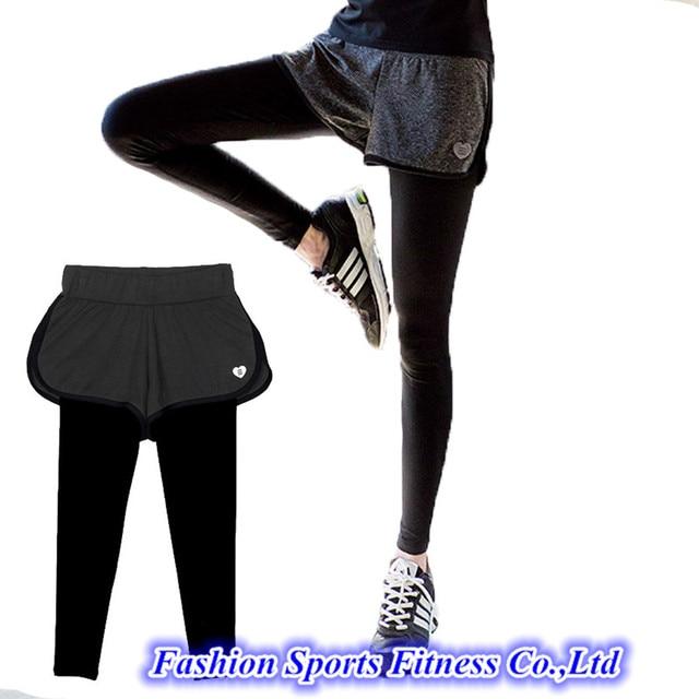 Pantalones de Yoga para correr con pantalones cortos falda pantalones de  entrenamiento ropa deportiva ajustada Fitness 1afeca267eb1