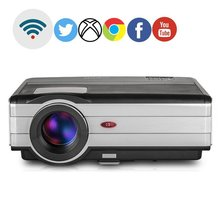 CAIWEI  LCD LED projector 4000 lumens mini smart Projector Android WiFi Projector Audio Video TV home movie theater proyectores