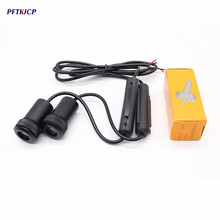 PFTKJCP 2 x Car door welcome light for Ssangyong Rexton Kyron Korando Actyon Rodius Car logo projector ghost shadow light