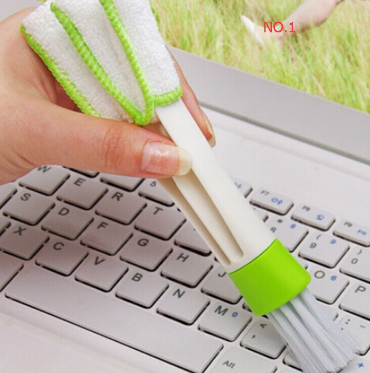 Pocket Brush Keyboard Dust Collector Air-condition Cleaner Computer Clean Tools Window Leaves Blinds Cleaner Duster