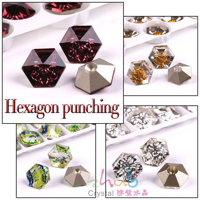 Claw Rhinestones Flatback Glass Sew On Stones 12X12MM Hexagon Crystal Loose  Faceted Pendant Wholesale For Wedding Dress Crafts 006b503dcb29