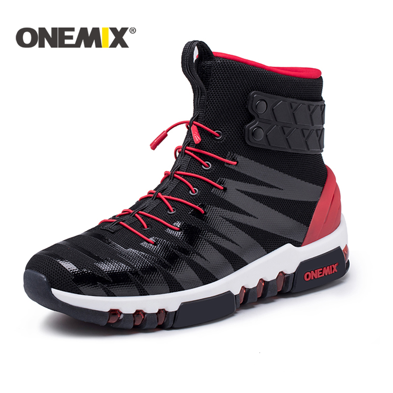 Onemix 2018 running boots for men or women high top sneakers Couple outdoor walking boots trekking sneaker for men Free shipping onemix new running shoes men outdoor walking boots couple high top sneakers multifunction trekking sneaker women free shipping
