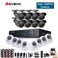 Домашняя CCTV безопасность 16CH DVR камера видео система 16 шт. sony 1200TVL наружная Всепогодная 3,6 мм камера наблюдения комплект 16 каналов