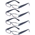 Reading Glasses 4 Pairs Women Spring Hinge Readers Fashion Small Oval Frame Retro Glasses for Reading