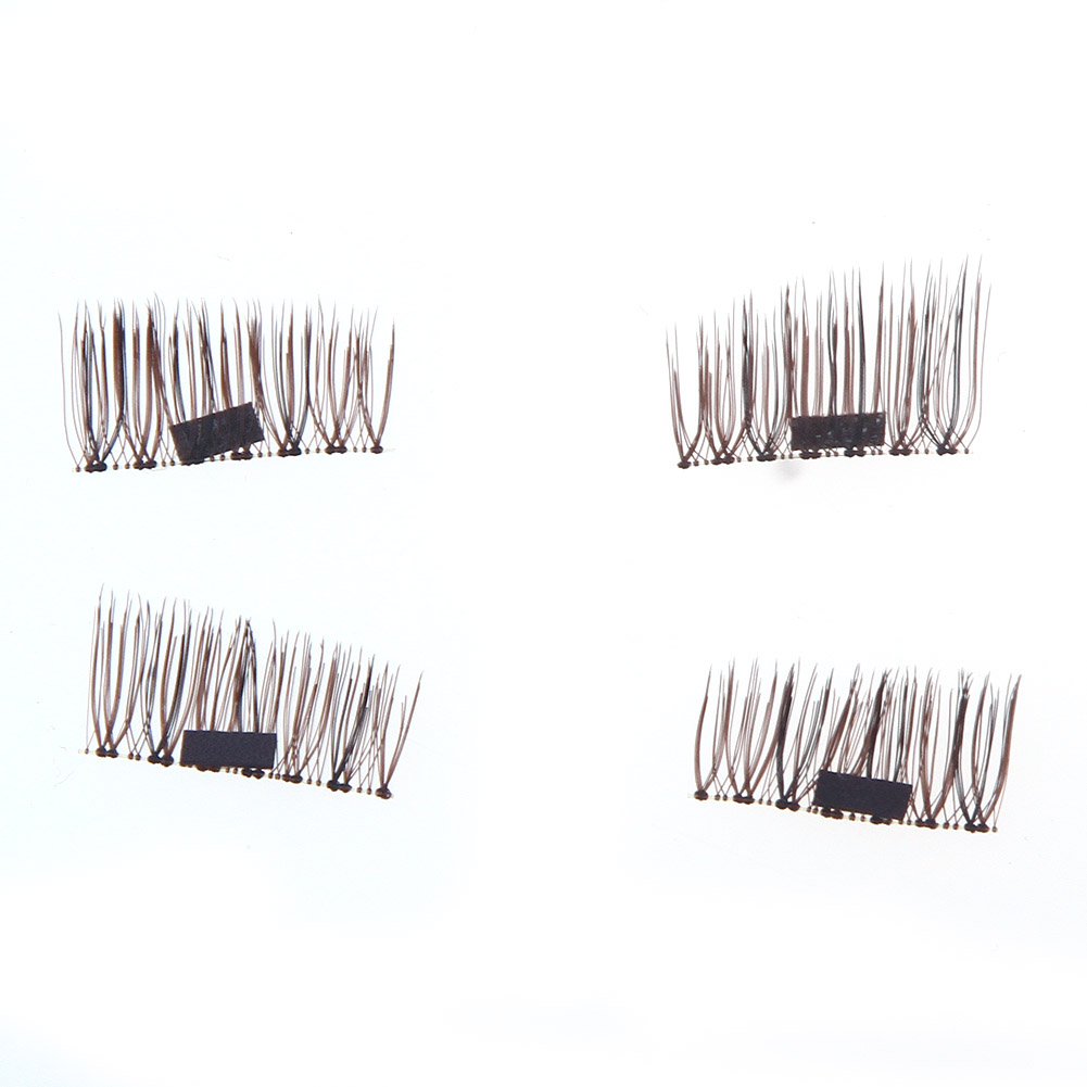 1 Set 3d Magnetic False Fake Eyelashes Buckle Iron Stone Extension Eye Beauty Makeup Accessories Soft False Eyelashes