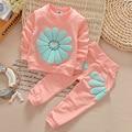 2017 Nova roupa das crianças das crianças do bebê roupas de menina flores ropa mujer terno esportes dos miúdos meninas roupas definir roupas infantis YAA026