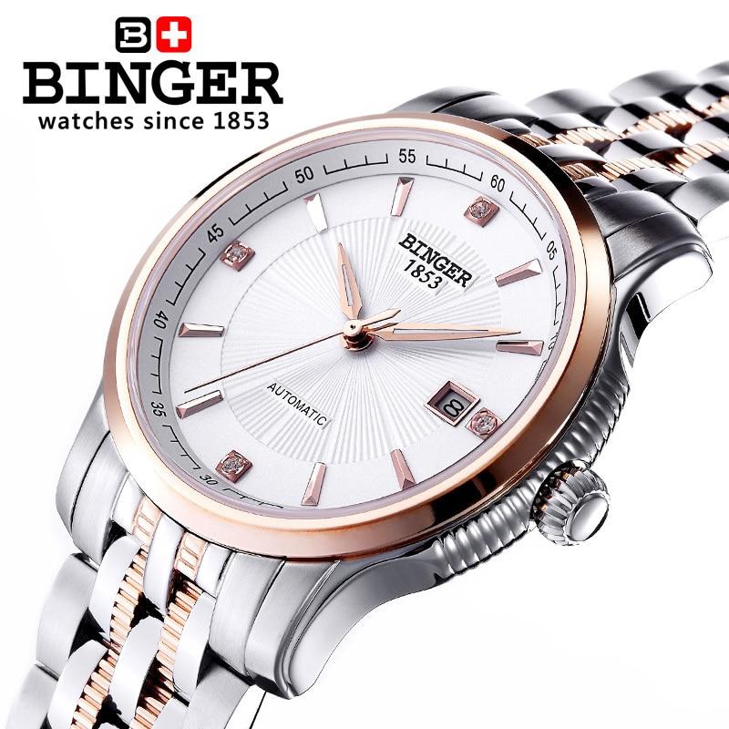 Szwajcaria BINGER zegarki mężczyźni luksusowa marka Mechanizm - Męskie zegarki - Zdjęcie 4