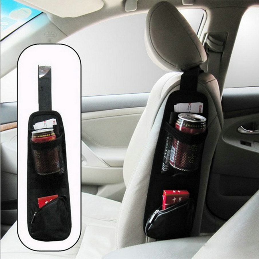 1Piece Hot Sell New Waterproof Fabric Car Auto Vehicle Seat Side Back Storage Pocket Backseat Hanging Storage Bags