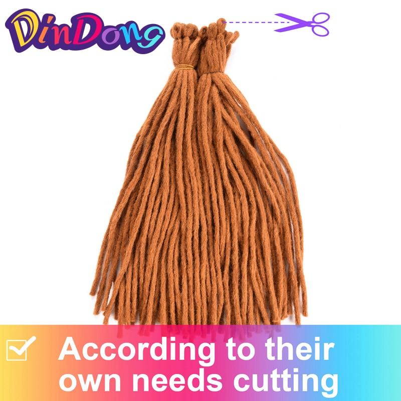 DinDong 22 tum Kanekalon Dreadlocks Men 8 Färger tillgängliga - Syntetiskt hår - Foto 5